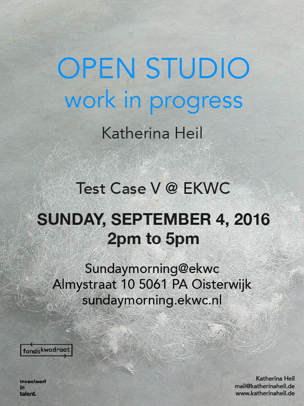 katherina heil ©katherinaheil invitation open studio ekwc european ceramic work center sundaymorning@ekwc test case