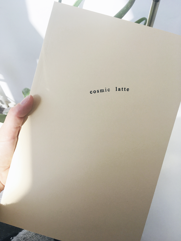 artists book cosmic latte katherina heil ©katherinaheil concrete poetry