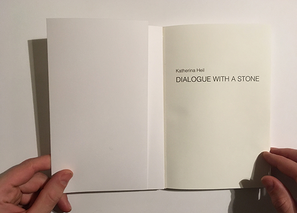 katherina heil dialogue with a stone publication